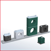 Stauff Clamps standard series, mild steel, stainless steel, various special jaw materials including Fire Preventive versions, from Stauff Anglia