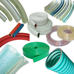 Suction and Delivery hose for fluids and other media, reinforced and layflat