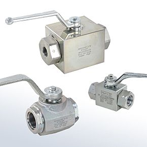 Two Way Block Body HP Ball Valves With Threaded Connections